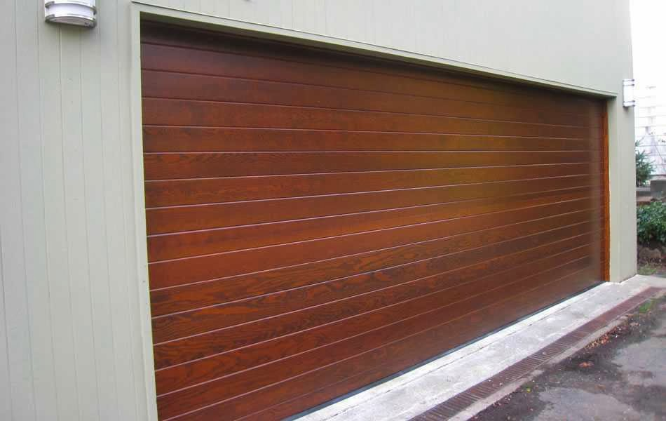 Contemporary Wooden Garage Doors - AyanaHouse
