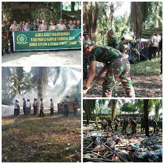 Kapten inf. Jaswadi Barus Gotong Royong Sambut Hari Perduli Sampah Nasional Ta.2019