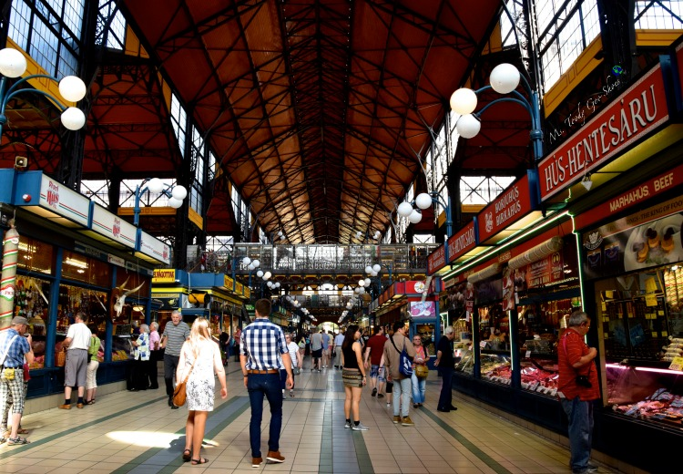 Great Market Hall in Budapest  | Ms. Toody Goo Shoes #budapest #danuberivercruise #hungary