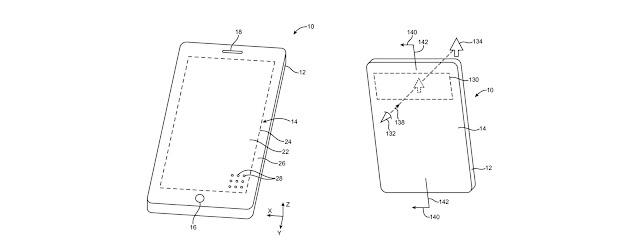 """Apple nhận được bằng sáng chế về """"màn hình lỗ"""""""