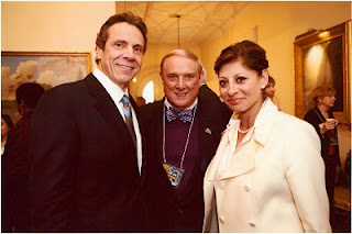 Governor Cuomo, RCC President Cliff L. Wood, and Maria Bartiroma