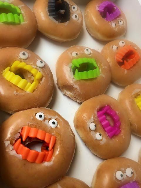 vampire teeth donuts