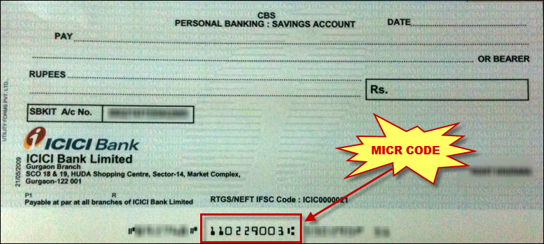 micr code meaning indian bank