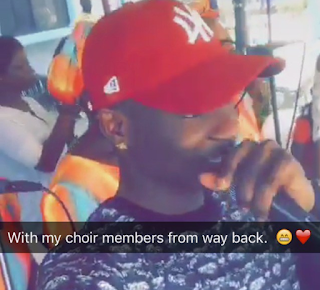 Nigerian Artiste, Lil Kesh Goes Back to Church (Photos)