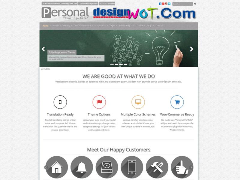 Personal Portfolio Responsive WordPress Theme