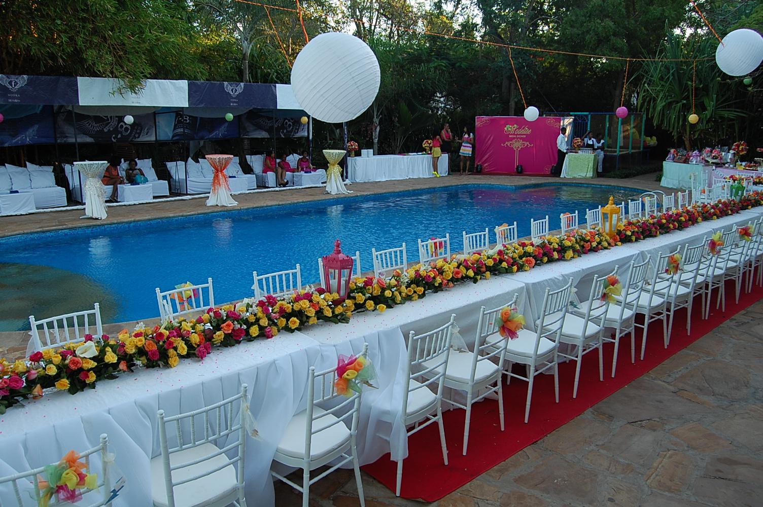 Pool Wedding Decoration Ideas: Glambox:Beautiful Make~up Is Our Hallmark!: Madeline Kimei