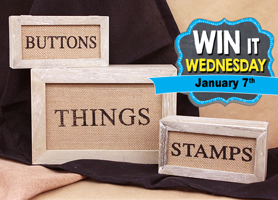 The Win-It-Wednesday Prize is 3 Hinged Wood Storage Boxes