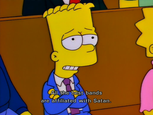 Bart en la iglesia. Como buen hijo