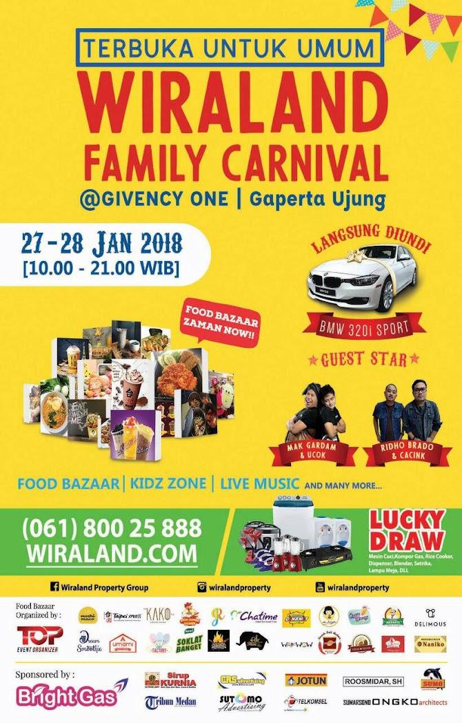 Seru-Seruan di Wiraland Family Carnival  ( 27-28 Jan 2018 )