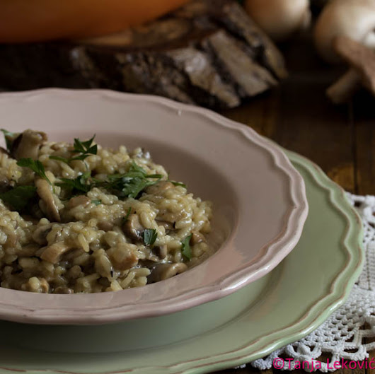Rižoto sa pečurkama / Risotto with mushrooms