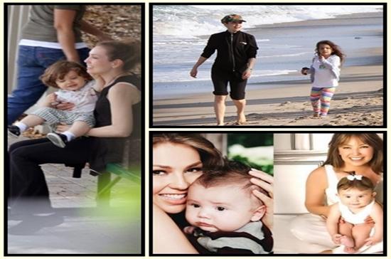 Thalía com os filhos