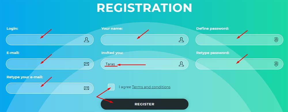 Регистрация в Bit-X 2