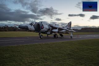 RAF Hawker Siddeley Harrier GR3 winter camo Cosford
