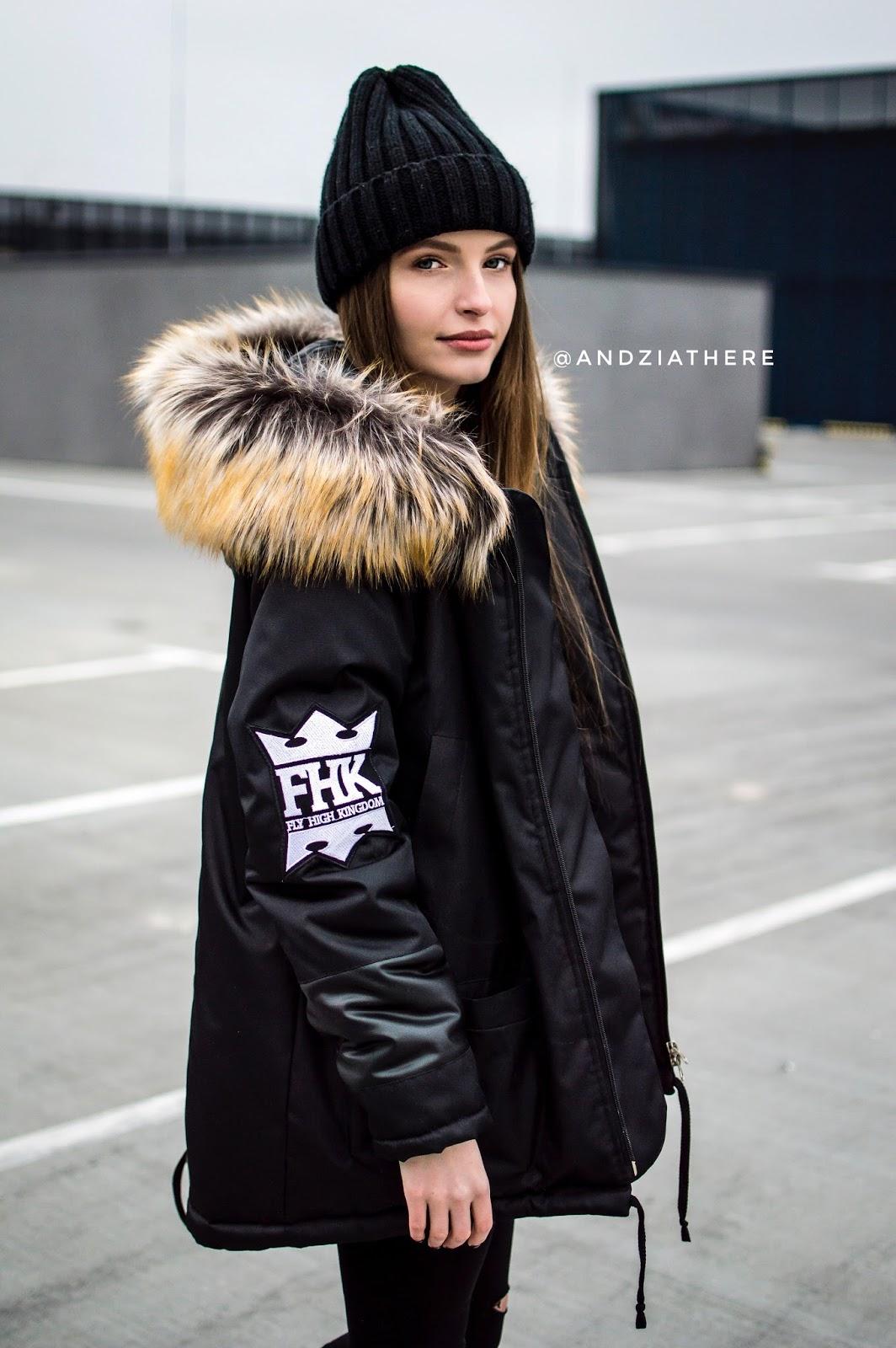 parka czarna, blog o modzie
