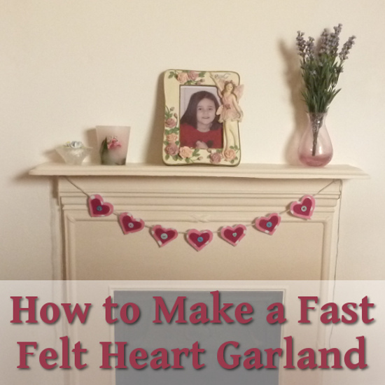 DIY craft make heart banner from felt