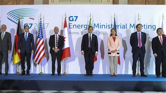 Energy ministers of the G7 group of industrial nations fail to adopt united stance on climate change
