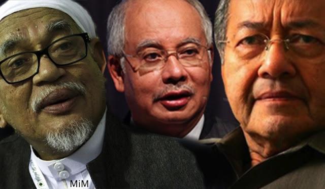 Image result for Gambar Mahathir, Najib dan hadi