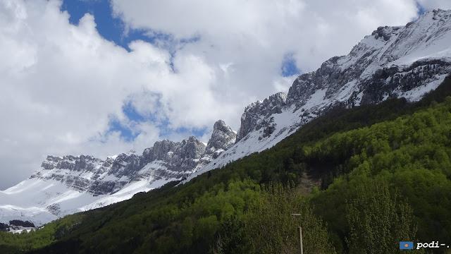 La Sierra de Alano viniendo desde el refugio de Linza