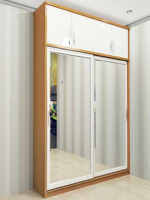 Lemari pakaian minimalis pintu 2 tinggi