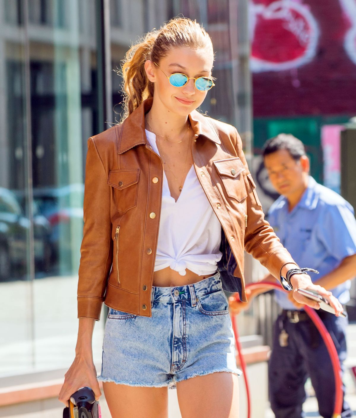 HQ Photos of Gigi Hadid with Sunglasses Out And About In New York
