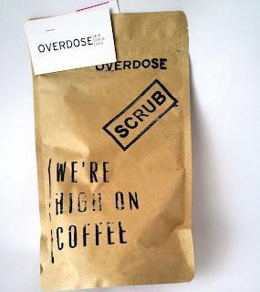 overdose, kahve, peeling, scrub