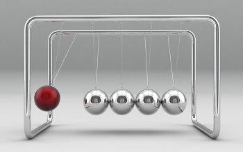 Wallpaper: 3D Energy Spheres Newtons Cradle
