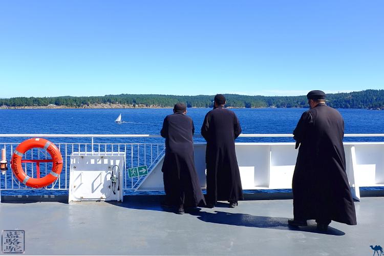 Le Chameau Bleu - Blog Voyage Canada - Passagers du ferry BC vers l'ile de Vancouver - Canada