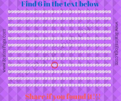 Answer of Quick Hidden Number Brain Teaser
