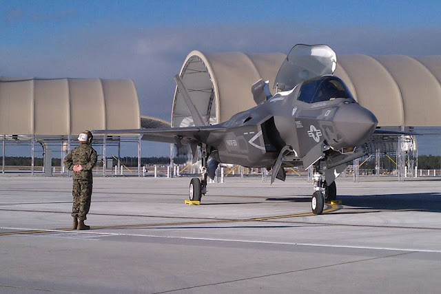 Marine F-35B crashes in South Carolina