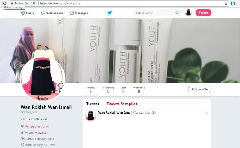 Akhirnya, Kak Wawa Ada Akaun Twitter Follow Me @Wawa_Vita