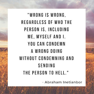 wrong is wrong by Abraham Inetianbor