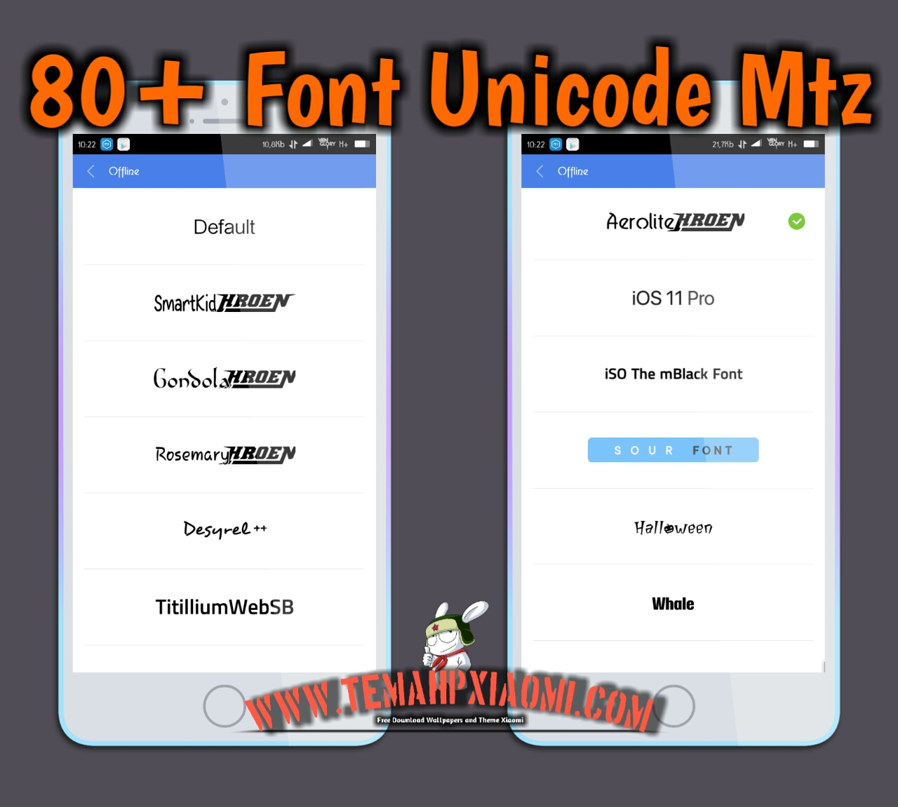 download font support unicode xiaomi mtz