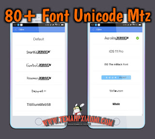 Font Support Unicode Mtz