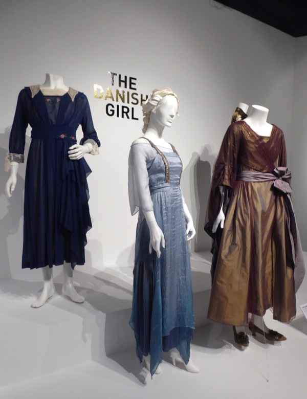 Danish Girl movie costume exhibit