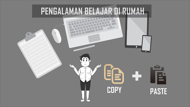 Belajar melalui internet melalui copy paste