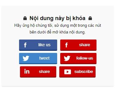Share like post Facebook để mở khóa nội dung