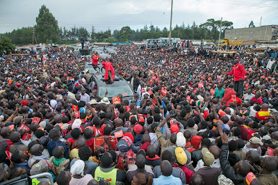 Uhuru in TransNzoia.. PHOTO | PSCU