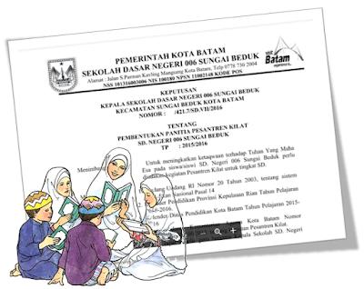 Download Administrasi SK Pesantren Kilat Untuk SD SMP SMA Sederajat - Galeri Guru