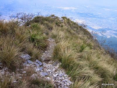 La vereda MG en el Pico Norte del Cerro de la Silla