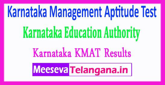 Karnataka Management Aptitude Test Education Authority KMAT KEA Results 2017