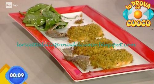 Trota salmonata in crosta di corn flakes ricetta Salvatori da Prova del Cuoco