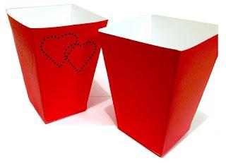 Corazones: Cajas para Popcorn para Imprimir Gratis.