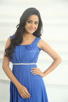 Divya Nandini stunning Beauty in blue Dress at Trendz Exhibition Launch ~  Celebrities Galleries 048.JPG