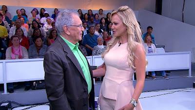 Carlos Alberto de Nóbrega e Eliana - Crédito:Divulgação/SBT