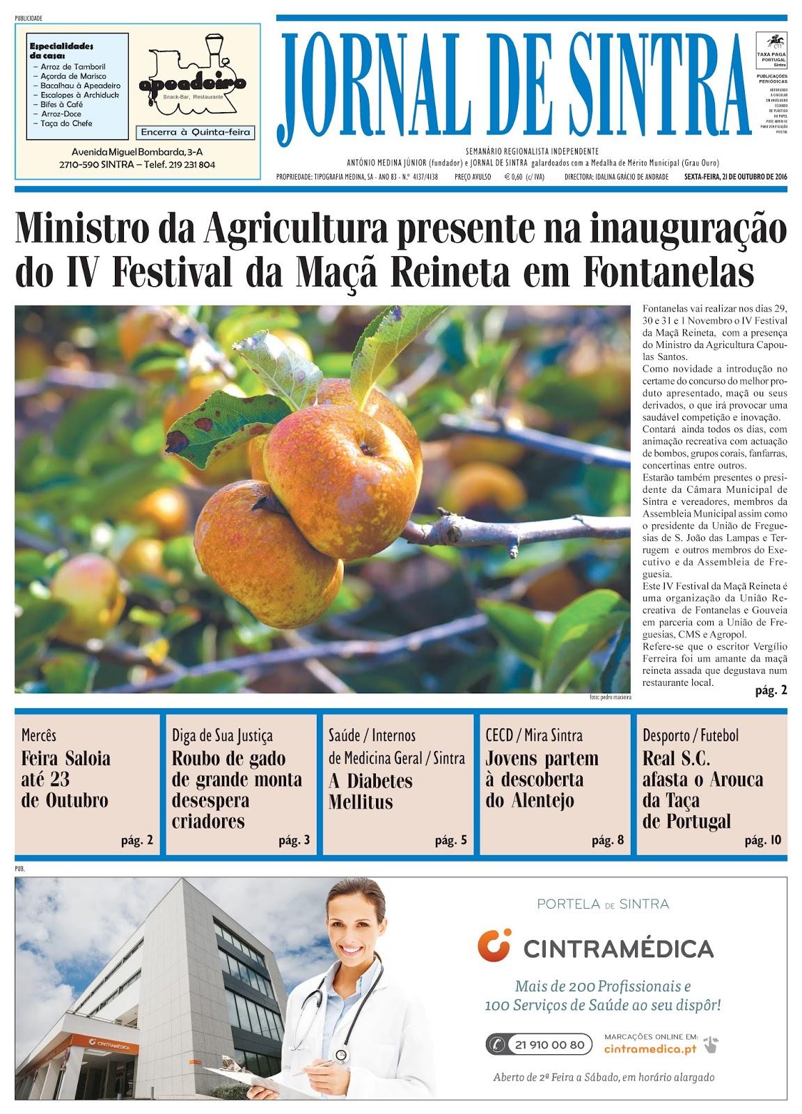 Capa da edição de 21-10-2016