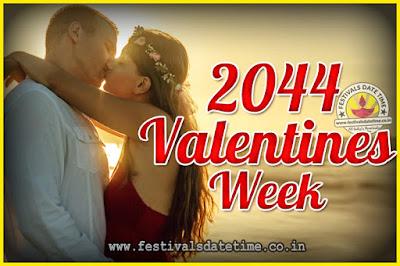 2044 Valentine Week List : 2044 Valentine Week Schedule, Hug Day, Kiss Day, Valentine's Day 2044