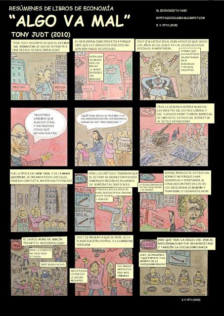 """Cómic Resumen del libro """"Algo va mal"""" de Tony Judt (E. V. Pita, 2018)"""