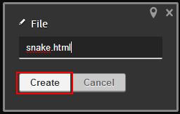 Codiad create file