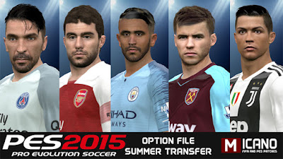 PES 2015 Next Season Patch 2019 Season 2018/2019 Option File 11/07/2018