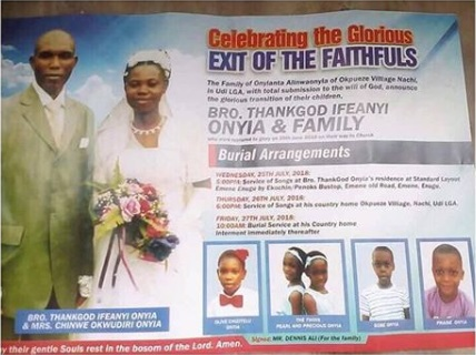 TEARS! Husband, Wife, 5 Children Died In Fatal Accident